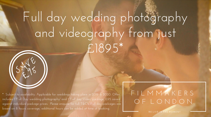 London Wedding Videographer Prices - FILMMAKERS OF LONDON